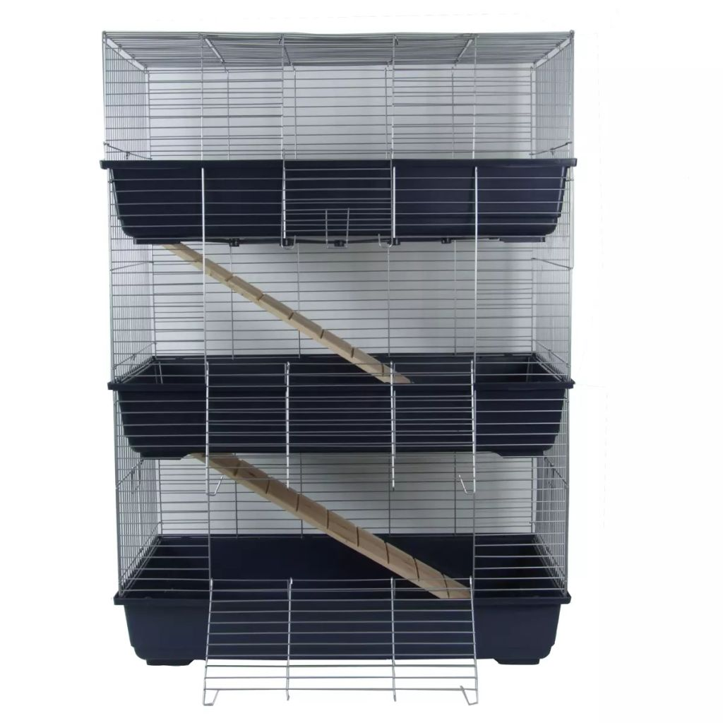 acheter pet cage 3 tages pour lapins bleu 80 x 44 x. Black Bedroom Furniture Sets. Home Design Ideas
