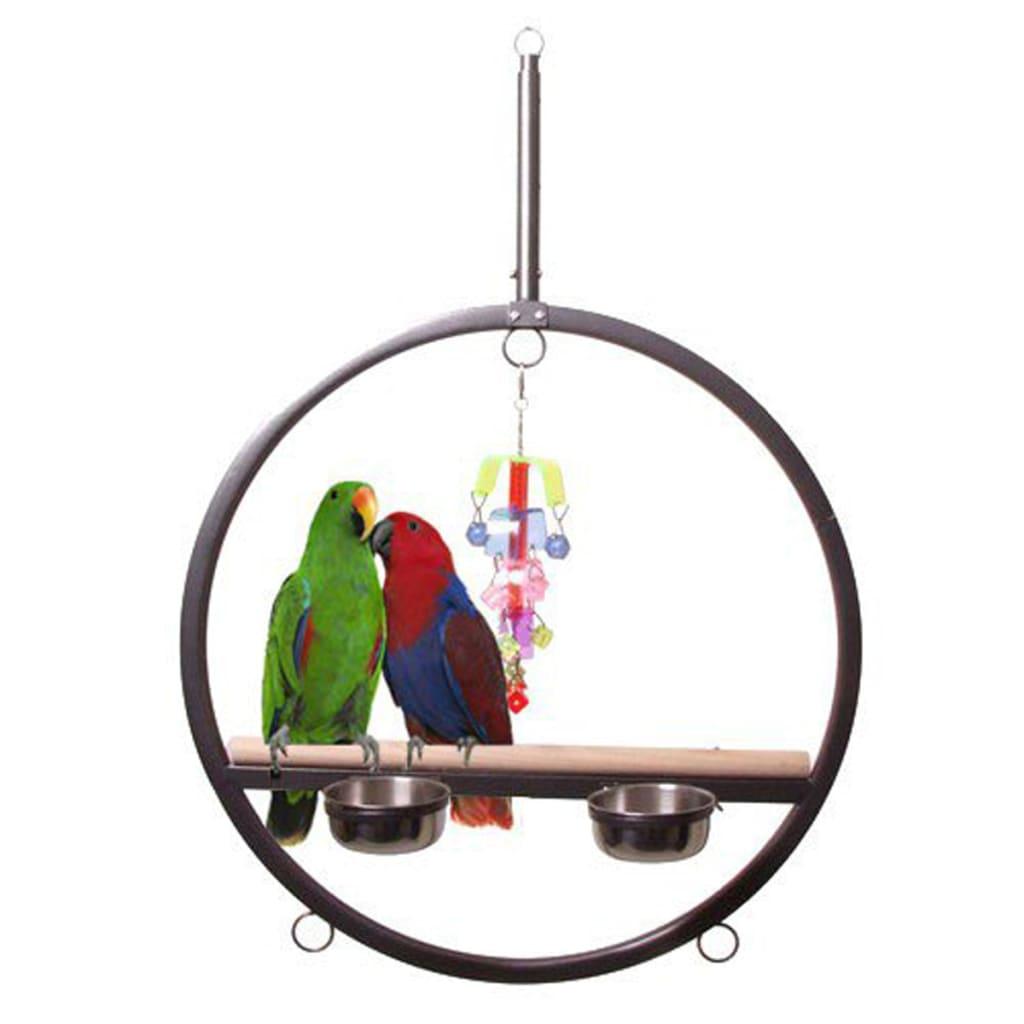 Afbeelding van Strong Speelring voor papegaaien 72x120 cm zilvergrijs 90074