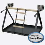 Strong Aire de jeux pour perroquets Livia Gris métallisé 49,5x30,5x33 cm