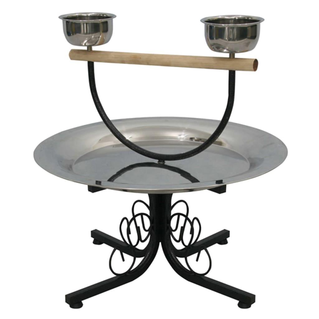 Afbeelding van Strong Speeltafel voor papegaaien Amy 55x55x51 cm zilvergrijs 99049