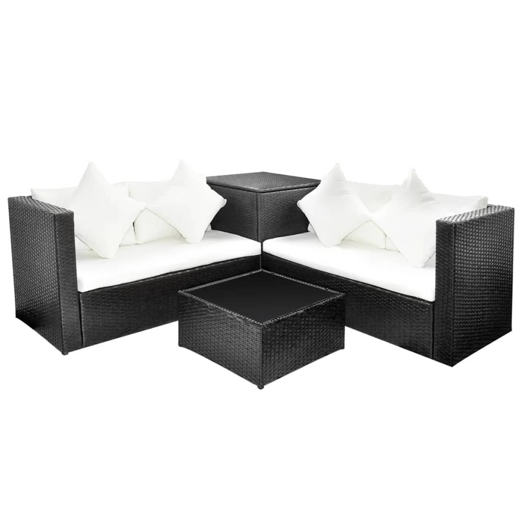la boutique en ligne salon de jardin en polyrotin noir. Black Bedroom Furniture Sets. Home Design Ideas