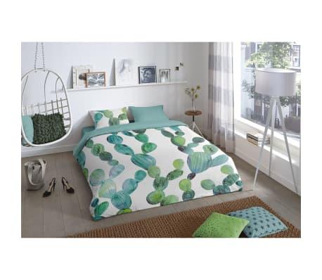 good morning bettw sche set 5827 p cactus gr n 240 200 220 cm im vidaxl trendshop. Black Bedroom Furniture Sets. Home Design Ideas