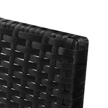 vidaXL Black Outdoor Poly Rattan Lounge Set Three-Seat Sofa[5/7]