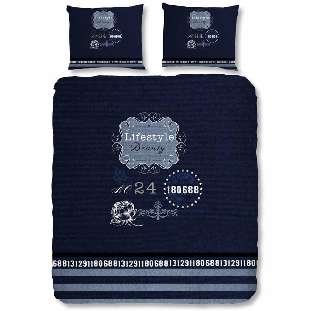 acheter good morning housse de couette 5719 p lifestyle 200x200 220 cm bleu pas cher. Black Bedroom Furniture Sets. Home Design Ideas