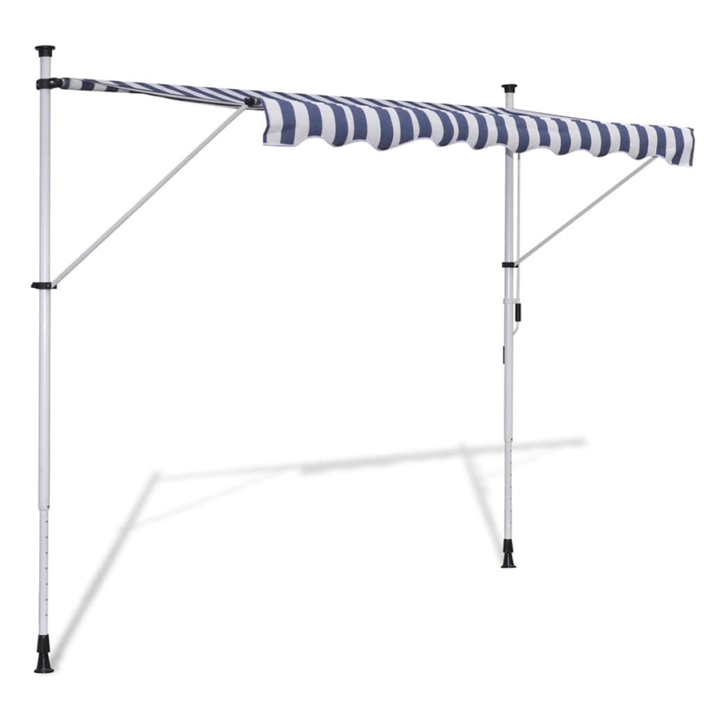 Toldo retr ctil manual color blanco y az l 350 cm tienda - Toldos on line ...