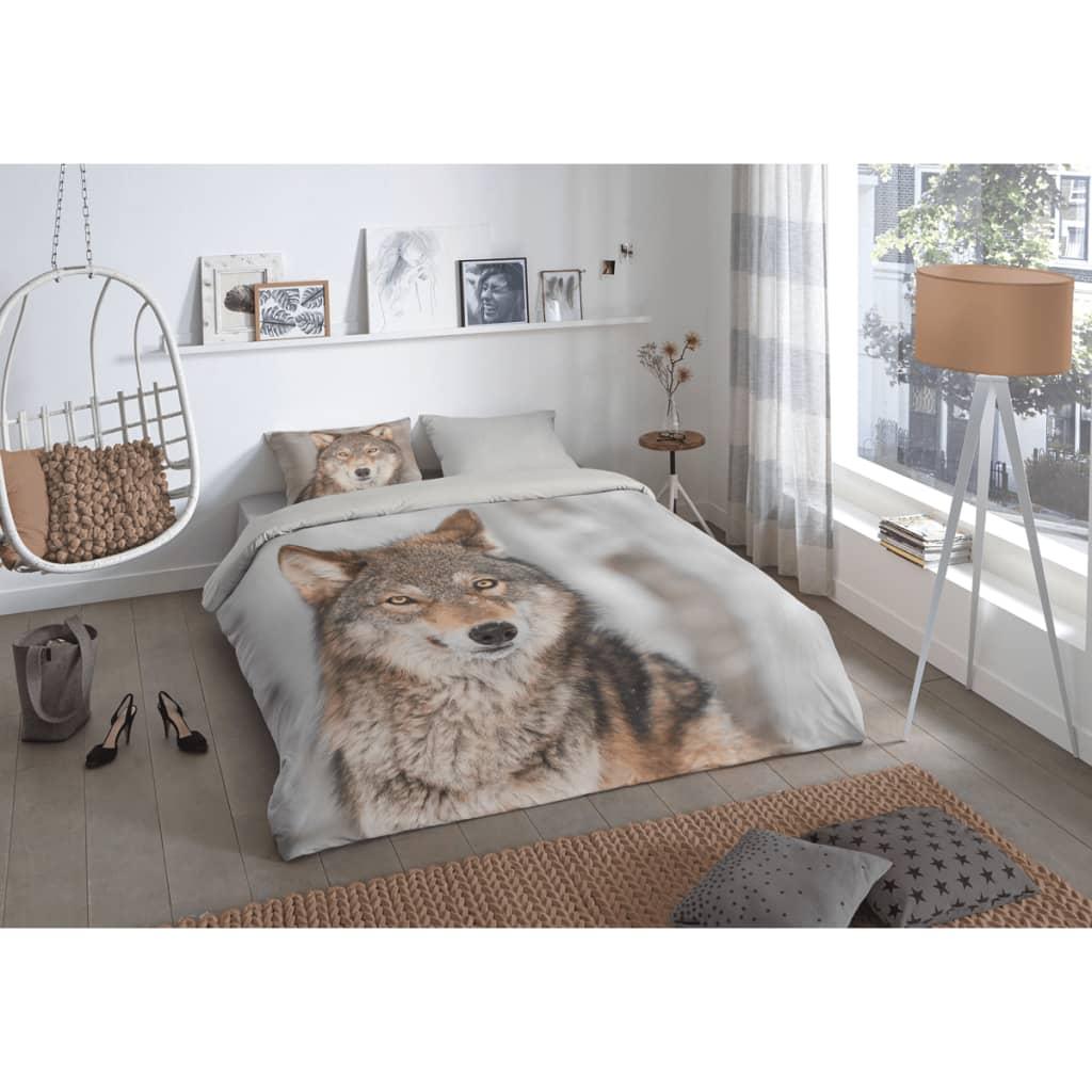 acheter good morning housse de couette 5703 p wolf 200 x 200 220 cm multicolore pas cher. Black Bedroom Furniture Sets. Home Design Ideas