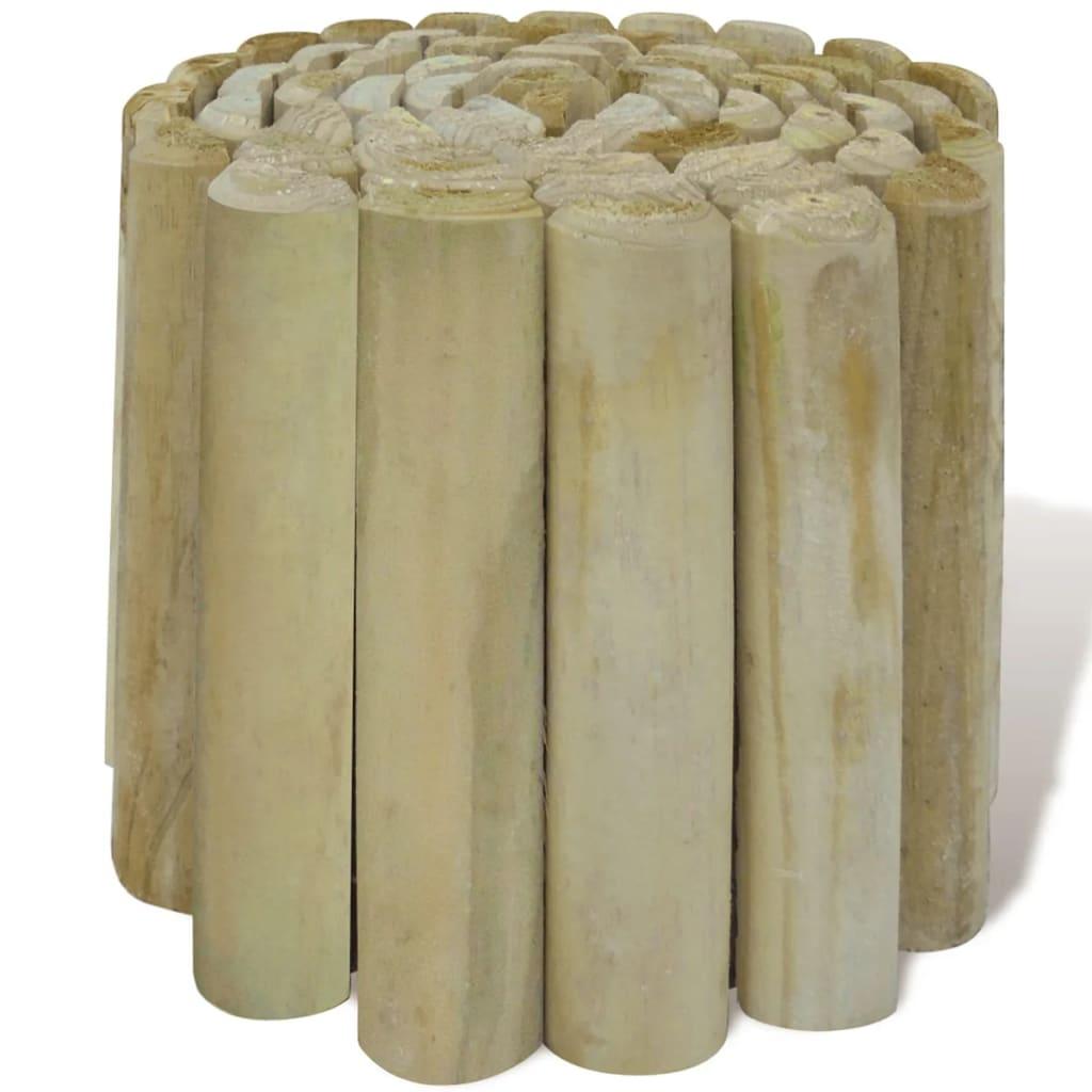 Acheter rouleau bordure en bois pour jardin 4 pcs pas cher - Bordure bois pour jardin ...