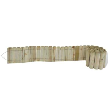 acheter rouleau bordure en bois pour jardin 4 pcs pas cher. Black Bedroom Furniture Sets. Home Design Ideas