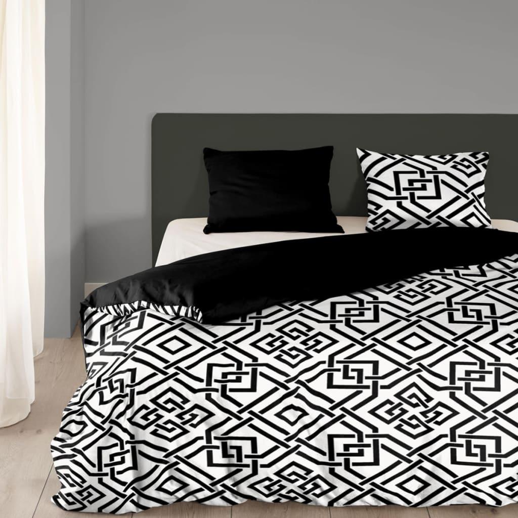 acheter good morning housse de couette 5226 a 140 x 200 220 cm noir blanc pas cher. Black Bedroom Furniture Sets. Home Design Ideas