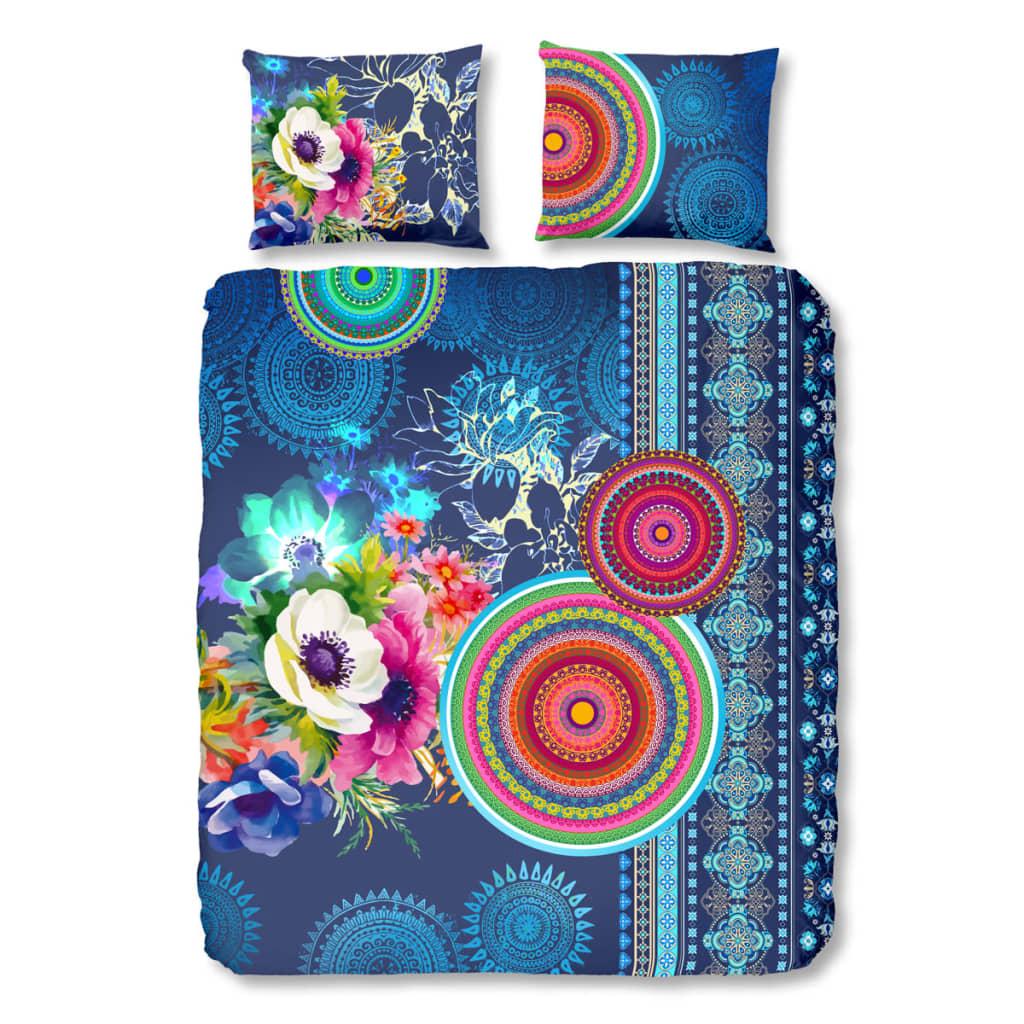 acheter hip housse de couette 5594 h darlene 200x200 220 cm bleu pas cher. Black Bedroom Furniture Sets. Home Design Ideas