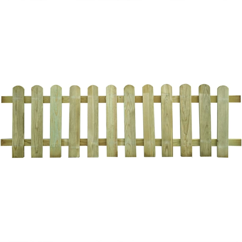 Wood picket fence 200 x 60 cm for Fenster 200 x 60