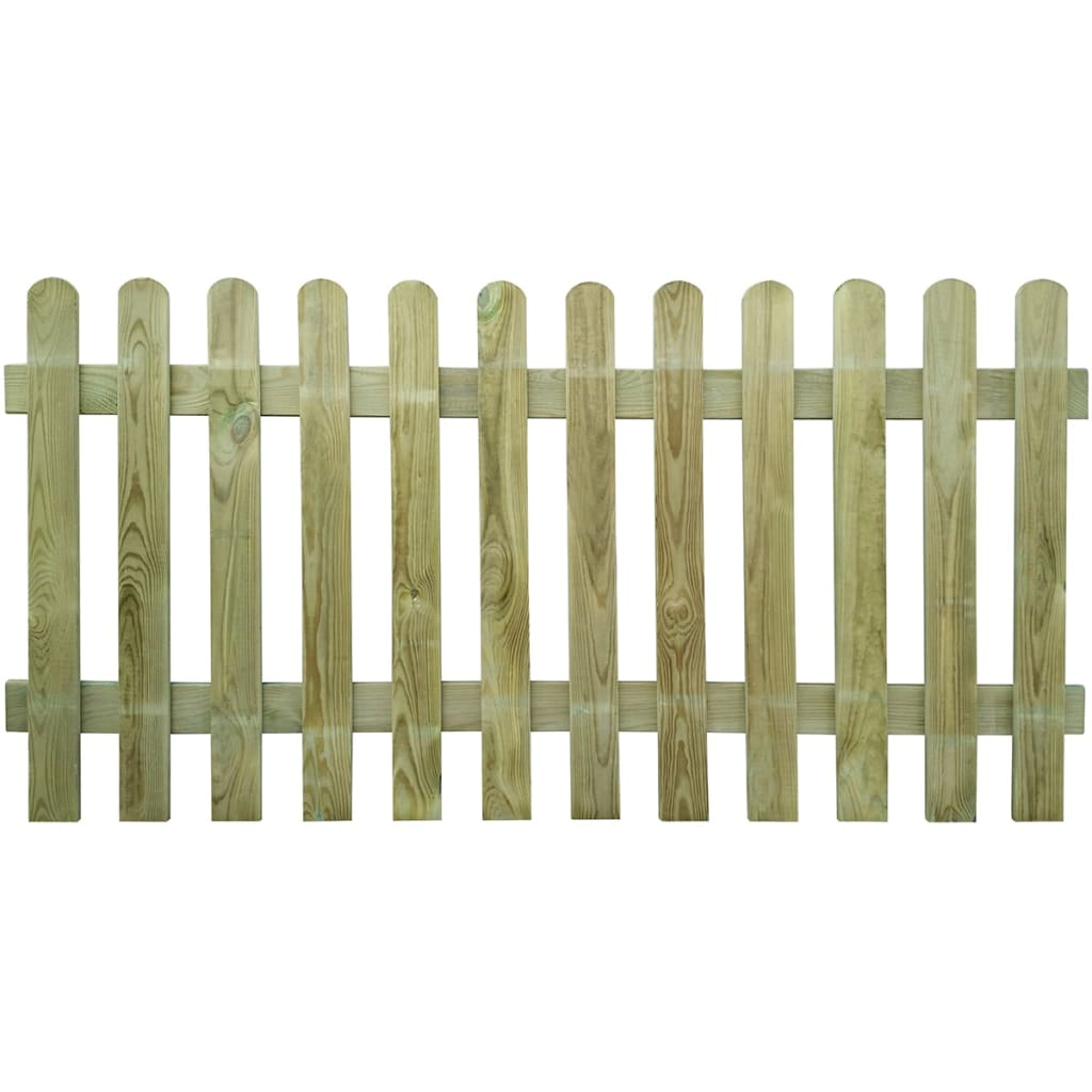 Picket Garden Boarder Outdoor Fence Panels Wooden Pales Round Top