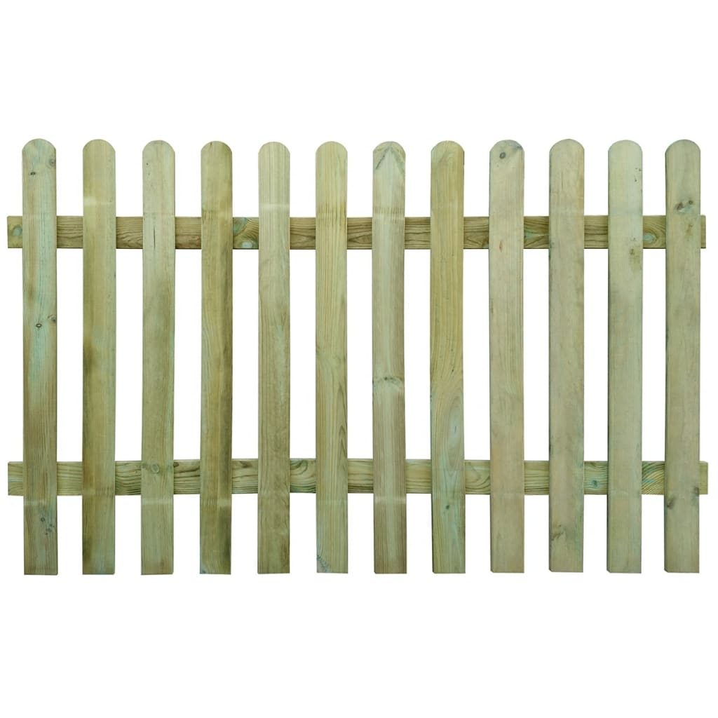 vidaXL Picket Fence 200 x 120 cm Wood