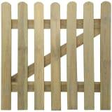 Portão do jardim de madeira 100 x 100 cm