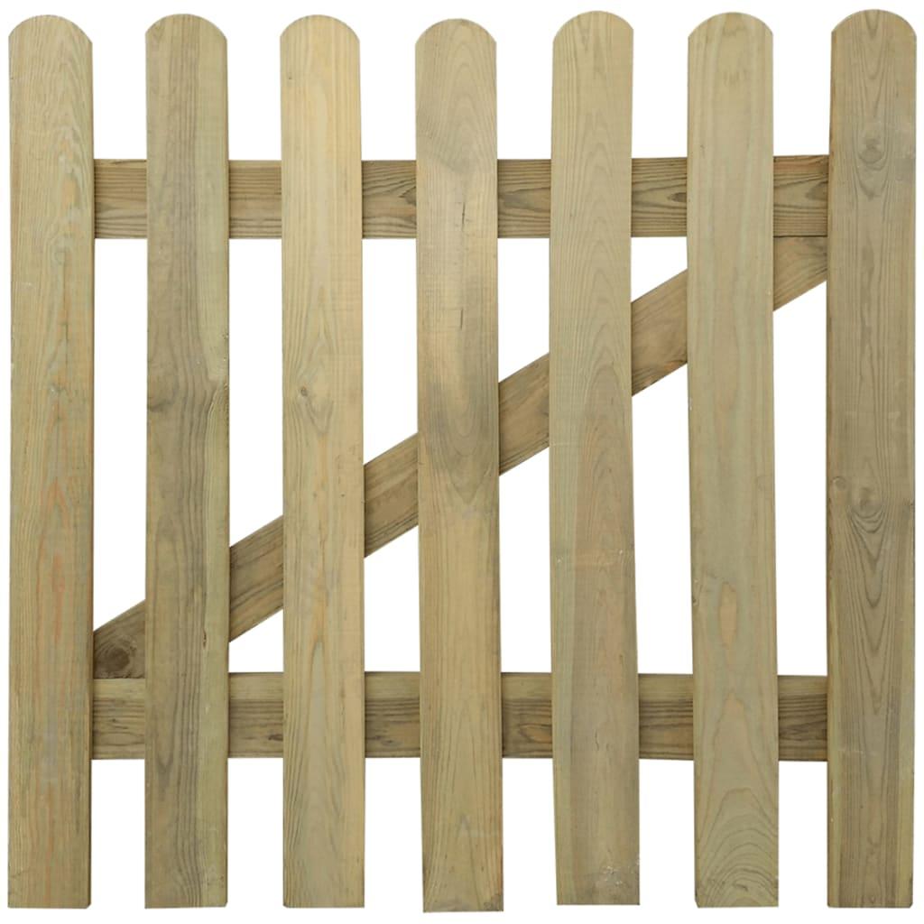 Cancello di legno a picchetto per giardino 100 x 100 cm - Cancelli in legno per giardino ...