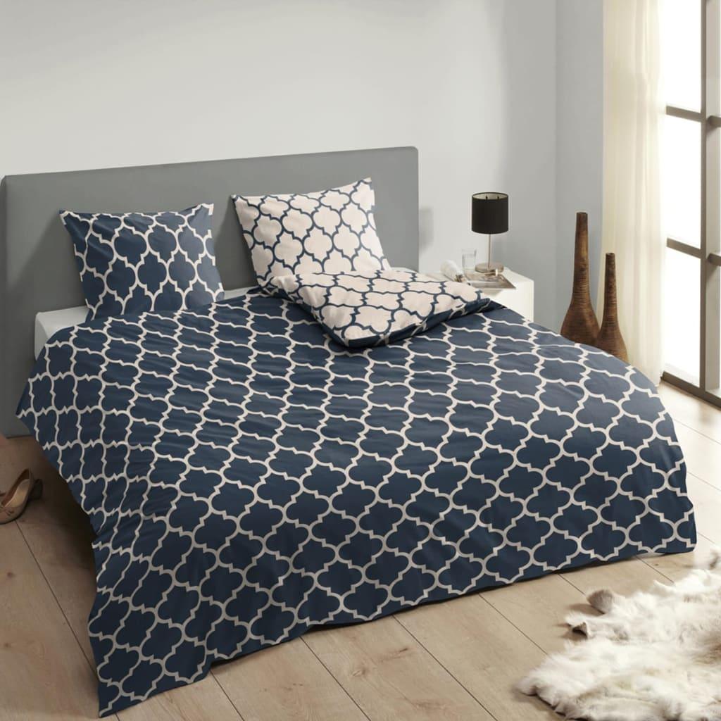 acheter descanso housse de couette 9278 k 200x200 220 cm bleu pas cher. Black Bedroom Furniture Sets. Home Design Ideas