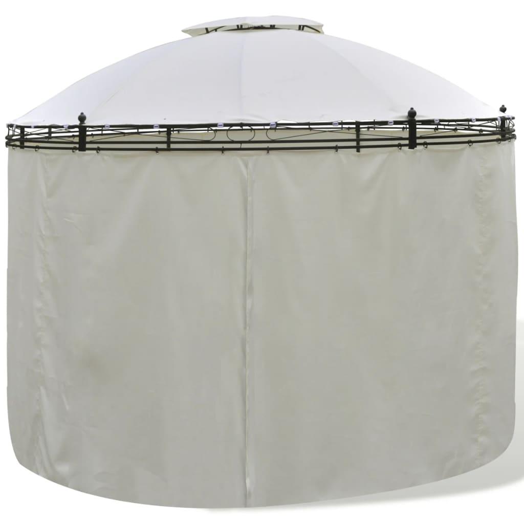 vidaxl pavillon mit vorh ngen 3 5x2 7m gartenpavillon gartenzelt partyzelt ebay. Black Bedroom Furniture Sets. Home Design Ideas