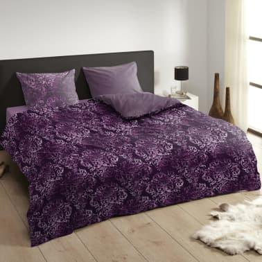 acheter descanso housse de couette 9306 k 140x200 220 cm violet pas cher. Black Bedroom Furniture Sets. Home Design Ideas