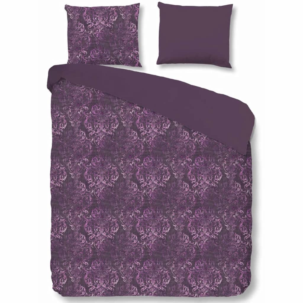 acheter descanso housse de couette 9306 k 140x200 220 cm violet pas cher. Black Bedroom Furniture Sets. Home Design Ideas