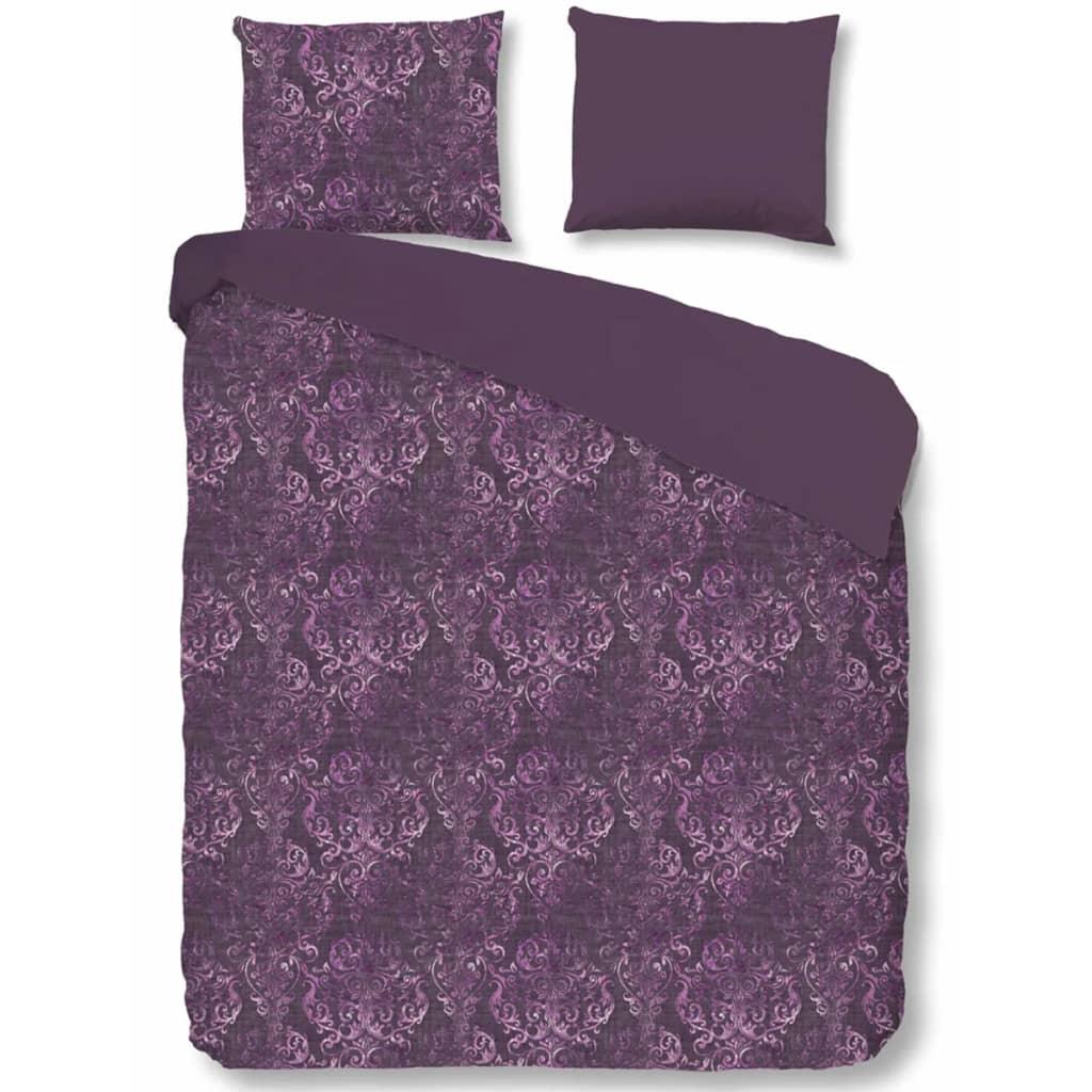 descanso bettw sche set 9306 k lila 140 200 220 cm g nstig kaufen. Black Bedroom Furniture Sets. Home Design Ideas