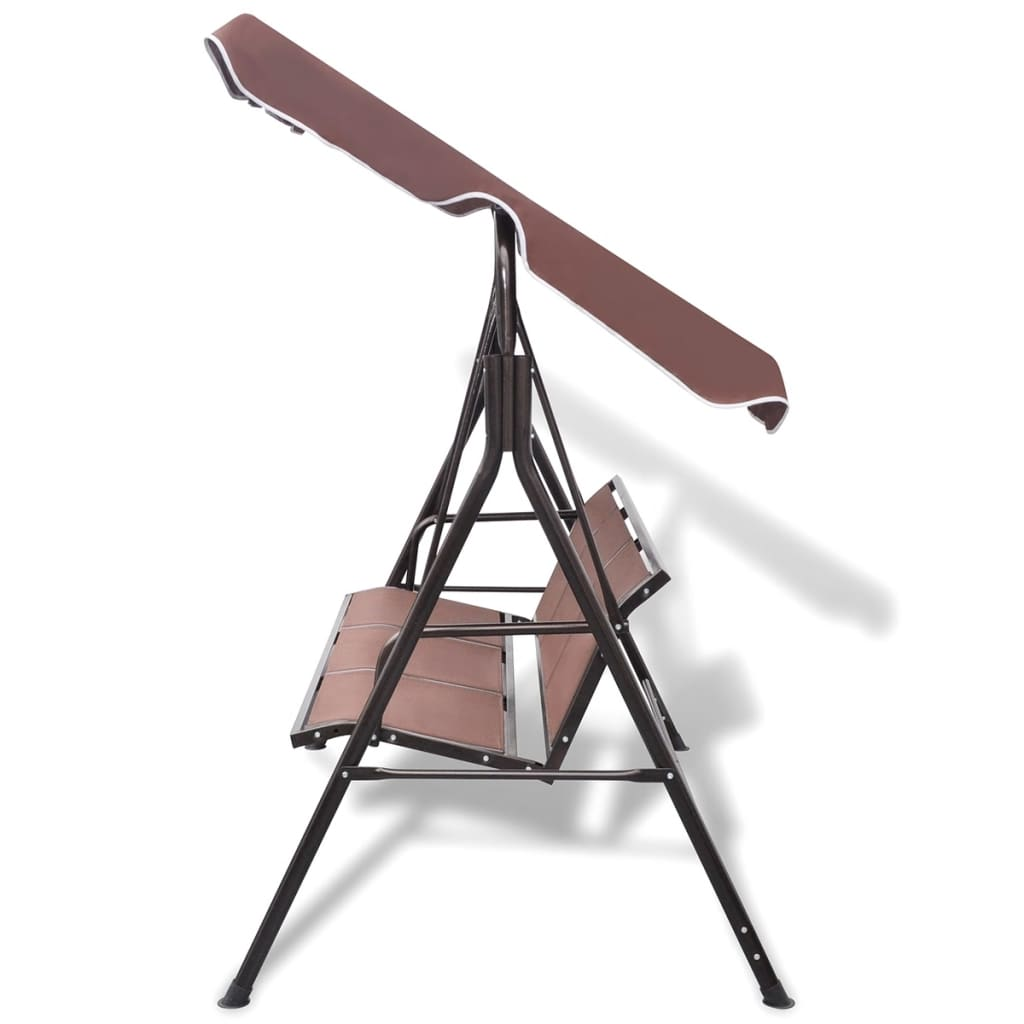 Cadeira de balanço para jardim cor de café www.vidaxl.pt #7B5550 1024x1024