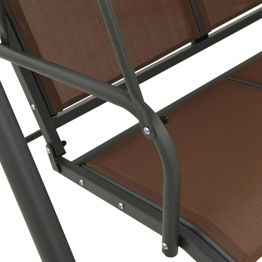 Cadeira de balanço para jardim cor de café www.vidaxl.pt #604643 1024x1024
