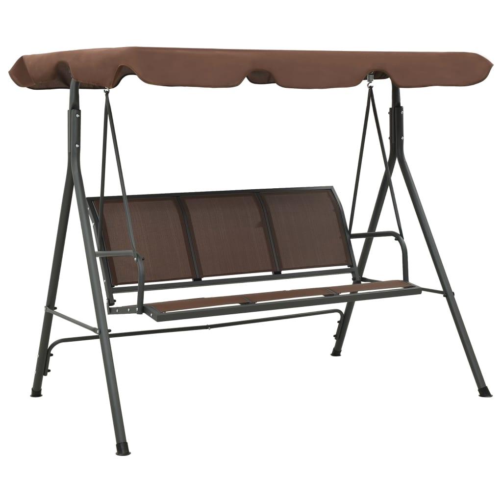 Cadeira de balanço para jardim cor de café www.vidaxl.pt #765853 1024x1024
