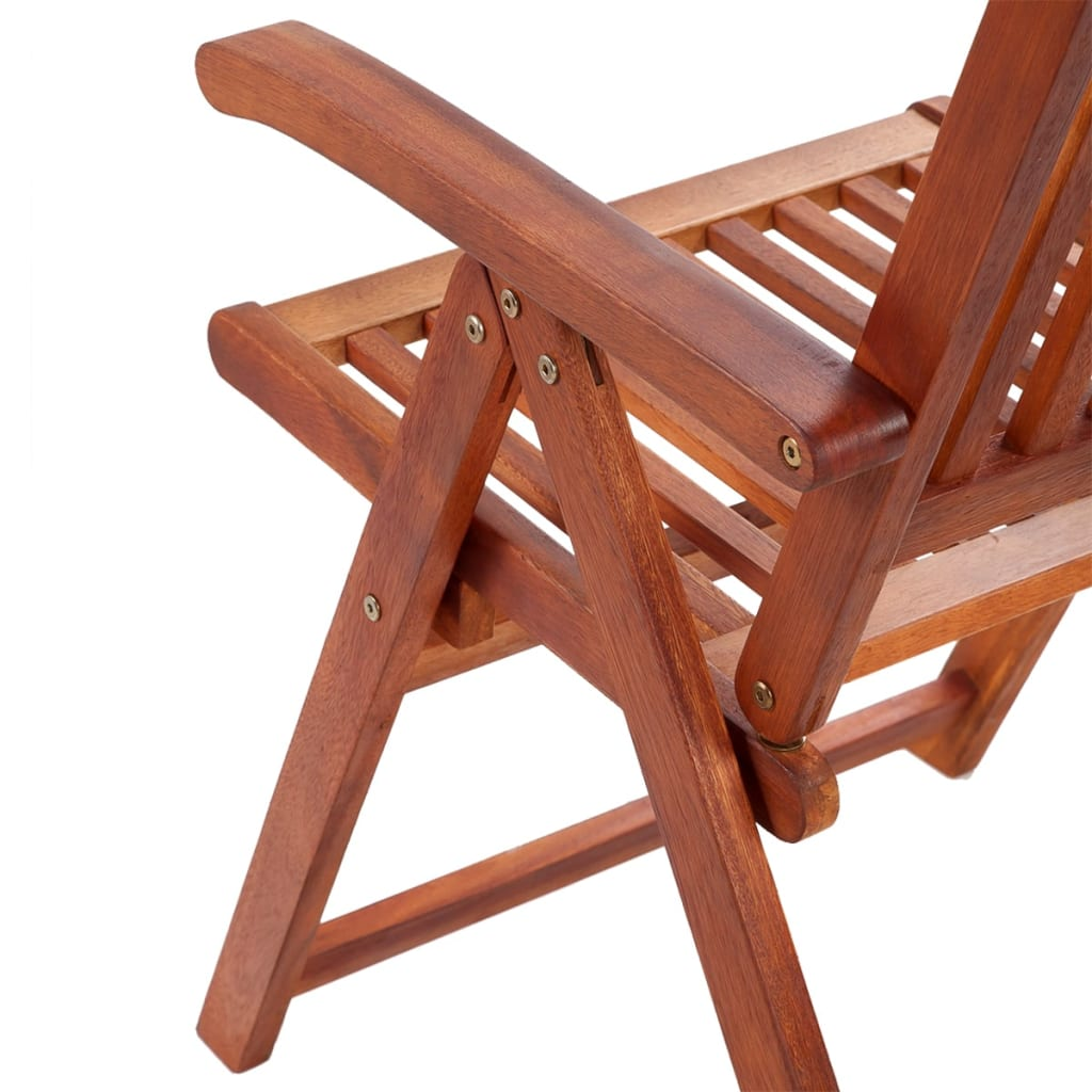 wooden outdoor dining set 6 adjustable chairs 1 extension table 10