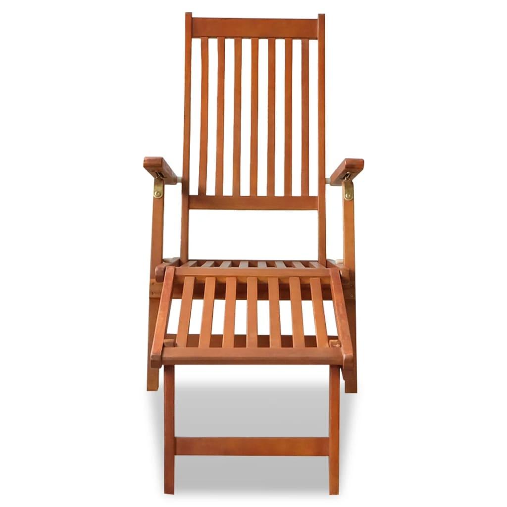 la boutique en ligne chaise longue d 39 ext rieur en acacia avec repose pied. Black Bedroom Furniture Sets. Home Design Ideas