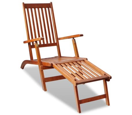 Miraculous Details About Vidaxl Footrest Acacia Wood Outdoor Deck Chair Garden Chaise Lounger Seating Machost Co Dining Chair Design Ideas Machostcouk