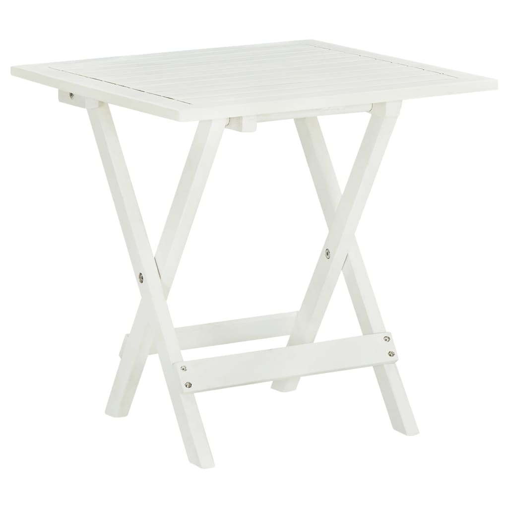 vidaXL.co.uk  Outdoor Coffee / Side Table Acacia Wood White