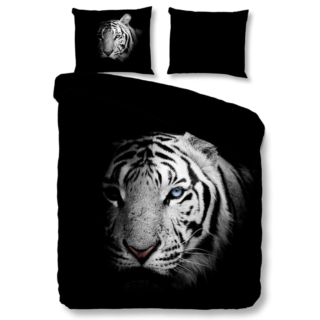 pure bettw sche set 5137 m tiger 240 200 220 cm schwarz g nstig kaufen. Black Bedroom Furniture Sets. Home Design Ideas