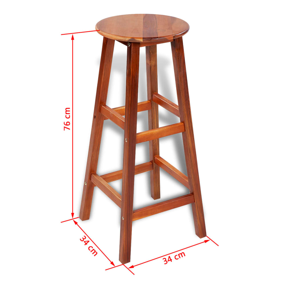 2 Pcs Wooden Bar Stool Set Vidaxl Co Uk
