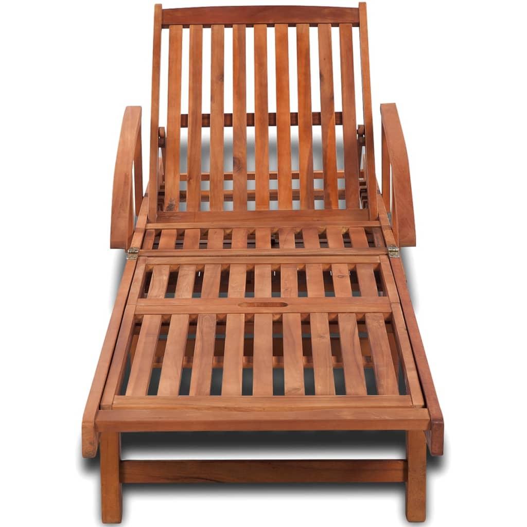 La boutique en ligne bain de soleil en bois ajustable 5 positions - Bain de soleil bois exotique ...