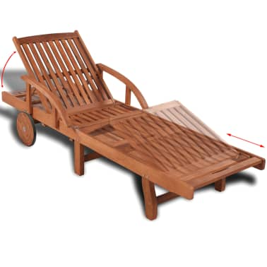 Wooden 5-position Adjustable Sun Lounger[3/6]