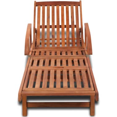 Wooden 5-position Adjustable Sun Lounger[2/6]