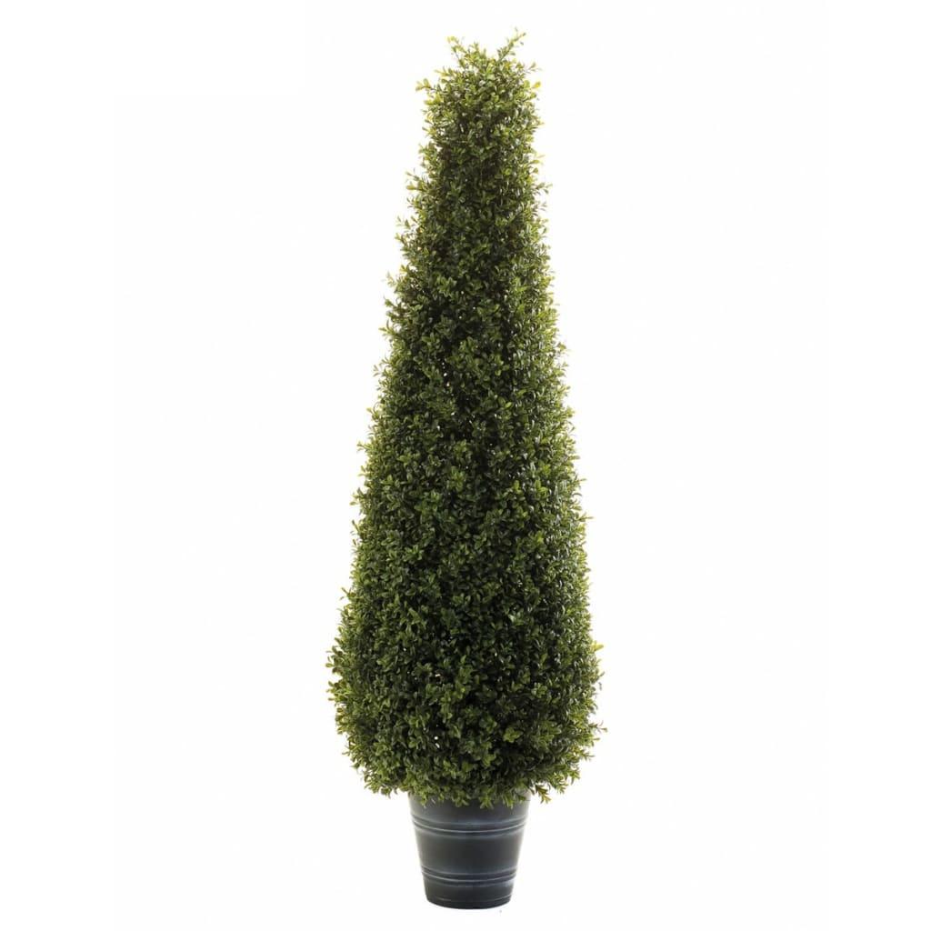 Afbeelding van Emerald Kunstplant buxus piramide groen 95 cm 2 st 417632