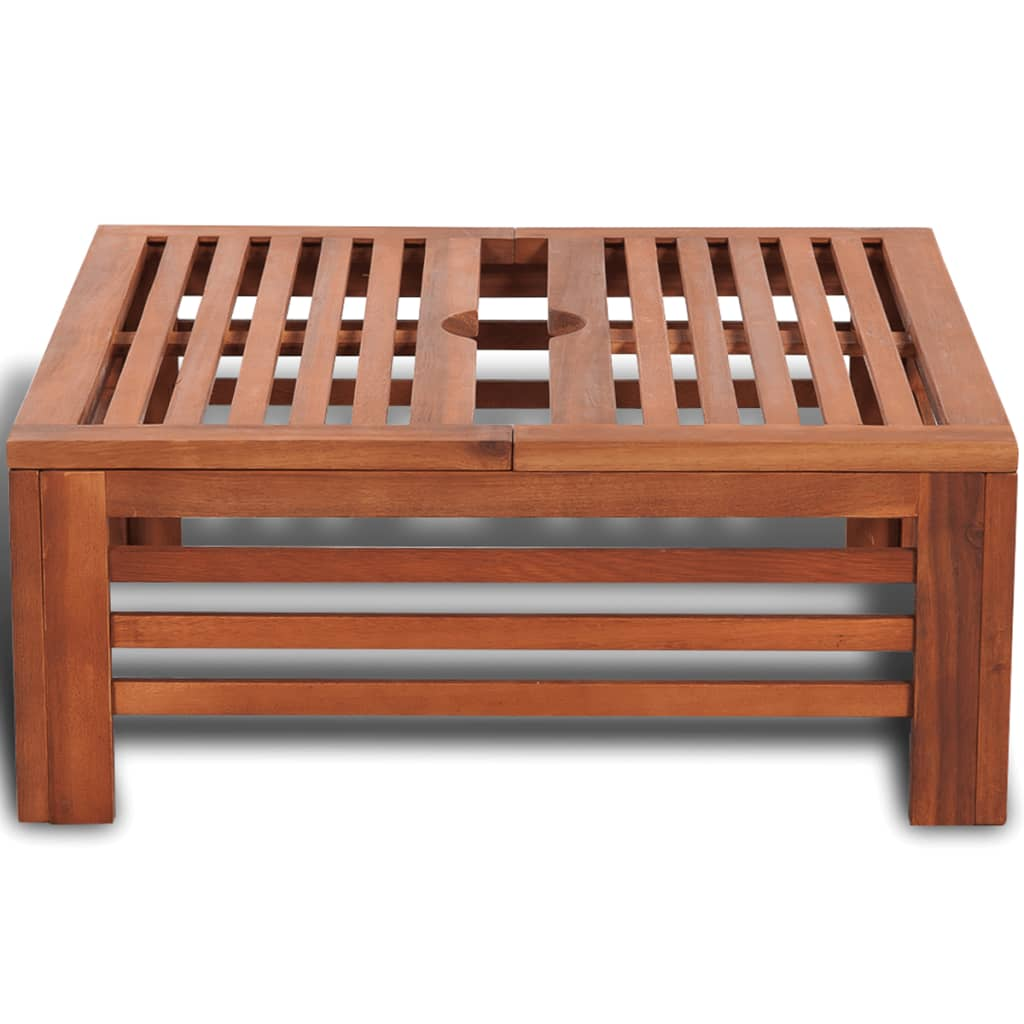 vidaxl patio umbrella base wooden outdoor garden acacia parasol Parasol Holder