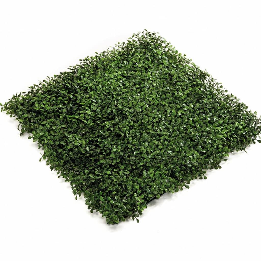 Afbeelding van Emerald Kunstplant buxus grasmat groen 50x50 cm 4 st 417980