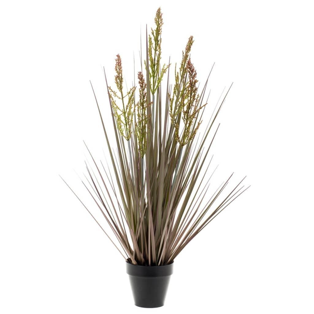 Acheter emerald rumex artificiel vert et marron 90 cm for Plante artificielle solde