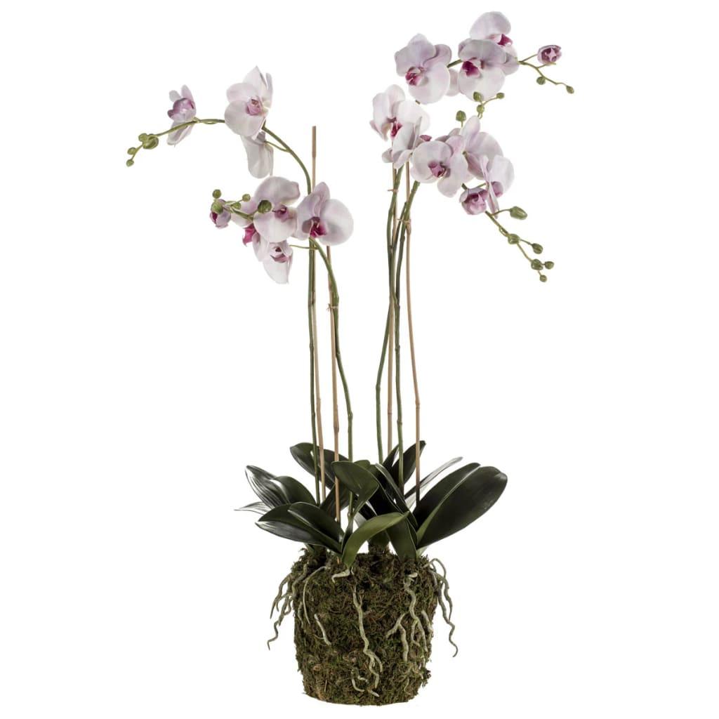 Afbeelding van Emerald Kunstplant orchidee met mos lichtroze 419149