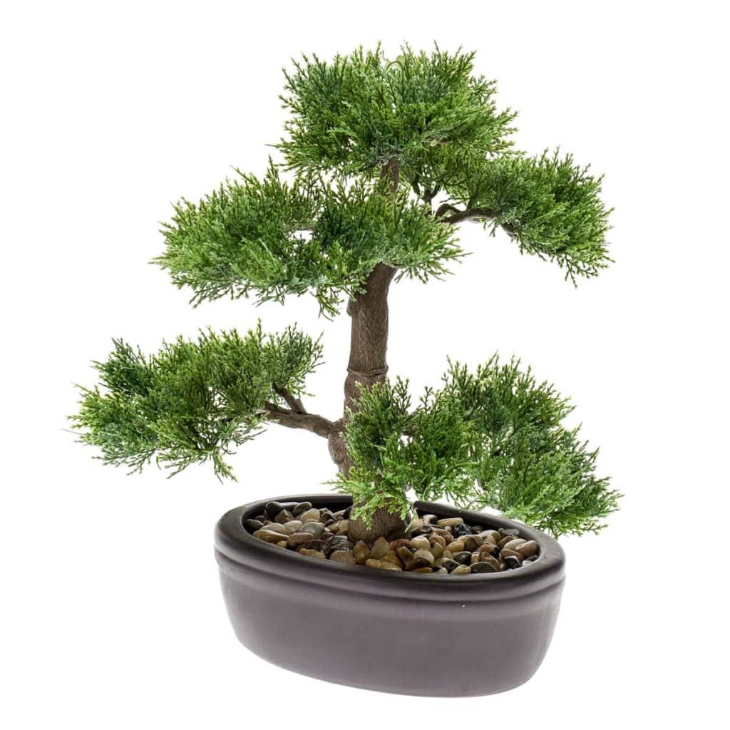 Afbeelding van Emerald Kunstplant ceder bonsai groen 32 cm 420001