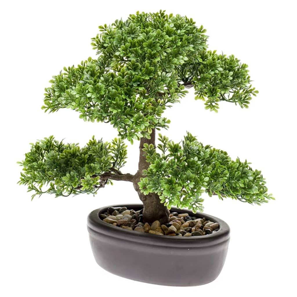 Afbeelding van Emerald Kunstplant mini bonsai ficus groen 32 cm 420002