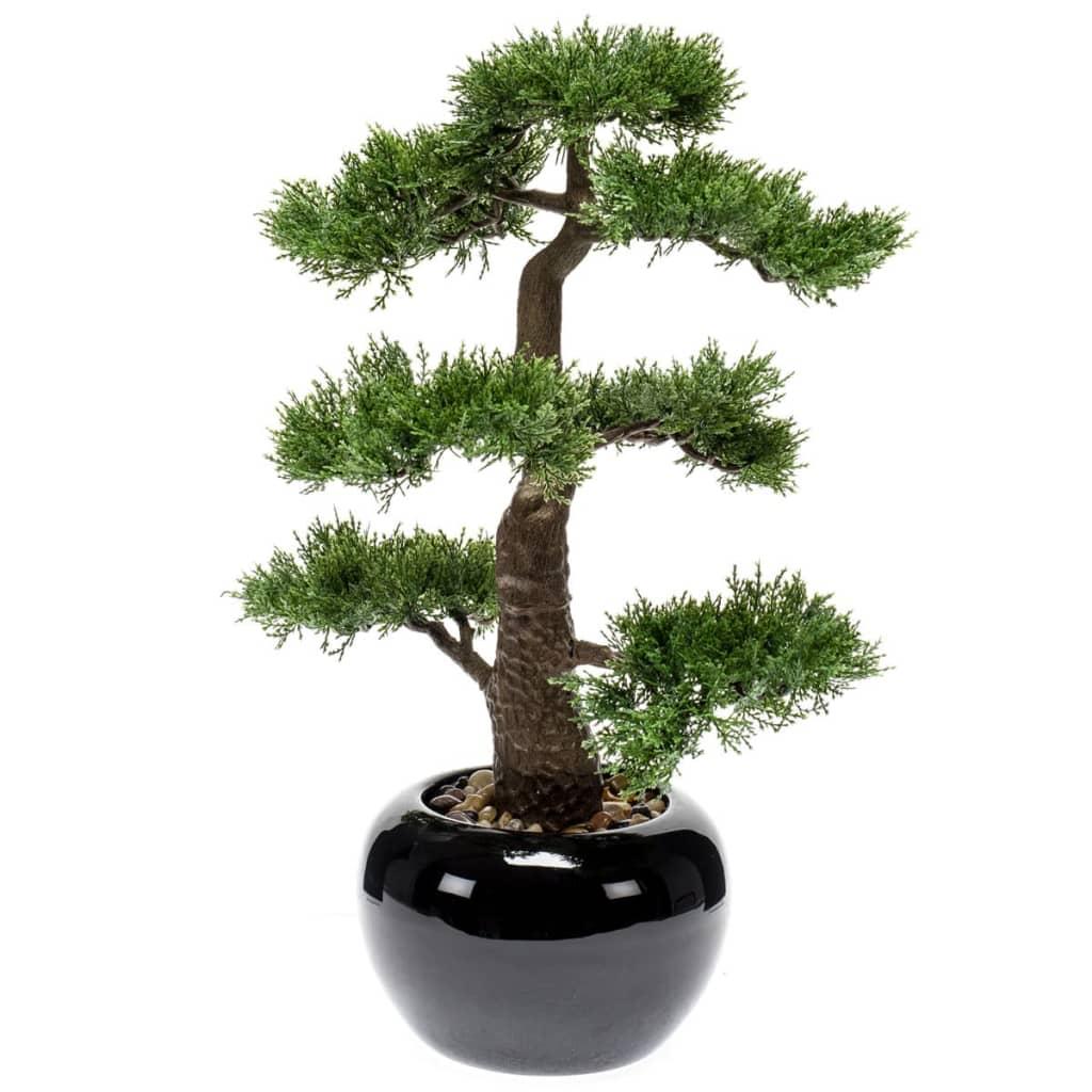 Acheter emerald bonsa de c dre artificiel vert 47 cm for Plante artificielle solde