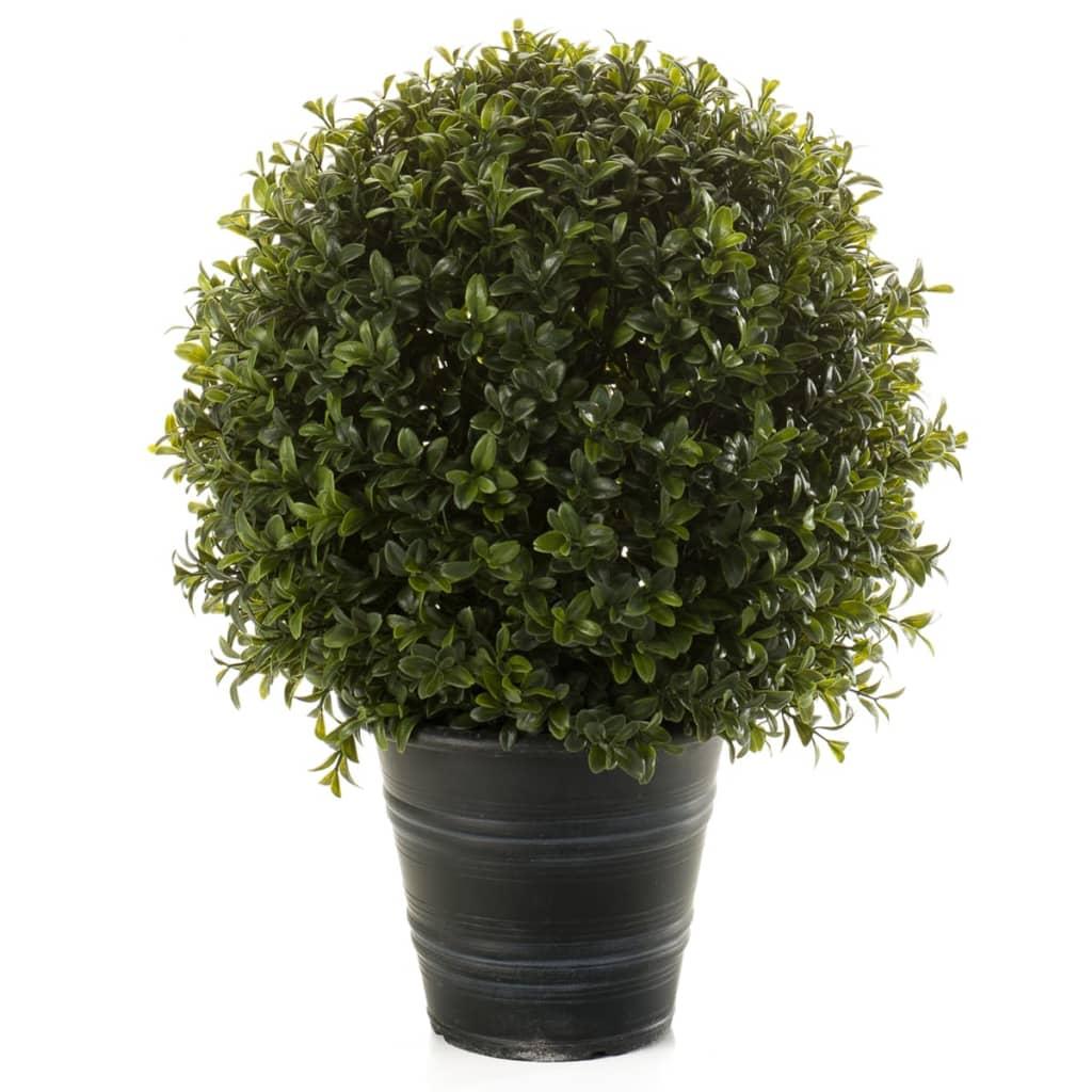 Afbeelding van Emerald Kunstplant buxusbollen groen 42 cm 2 st 417629