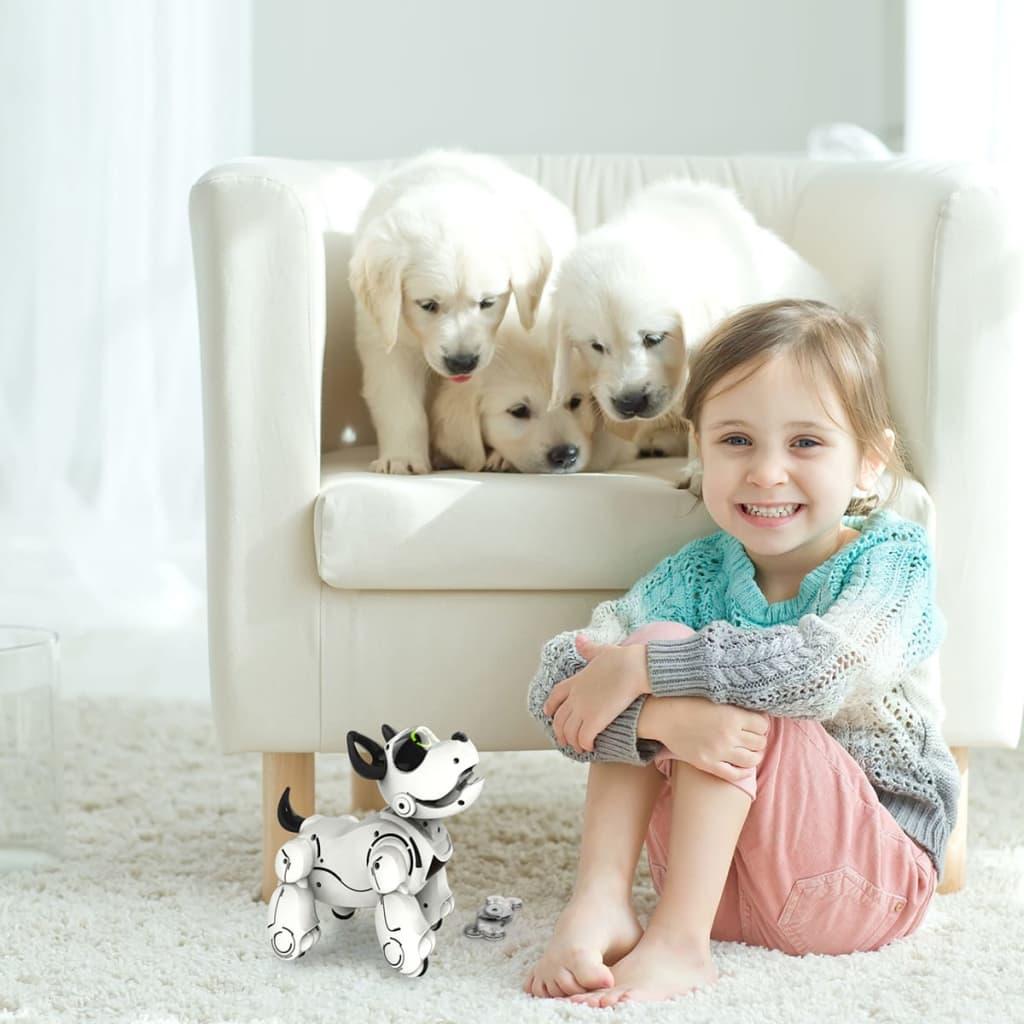 acheter silverlit chien robot pupbo blanc sl88520 pas cher. Black Bedroom Furniture Sets. Home Design Ideas