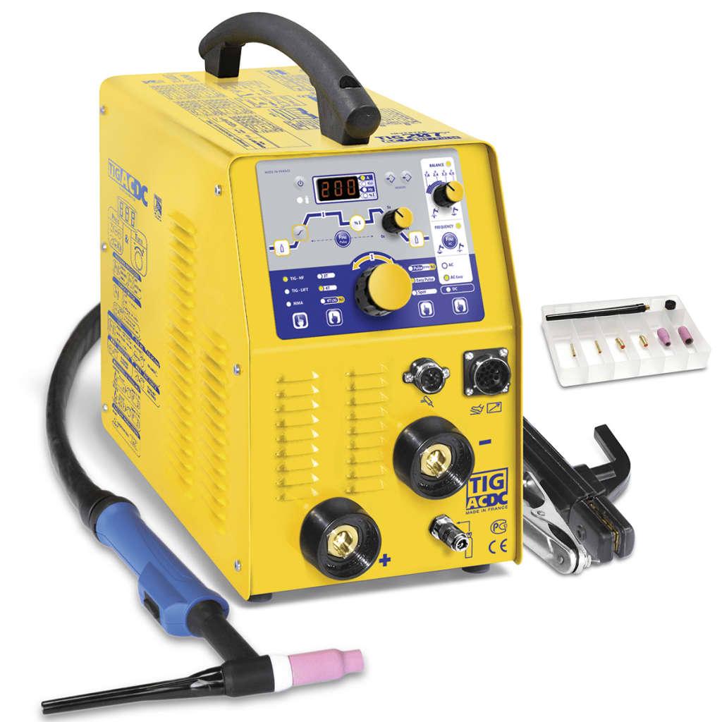 GYS Hegesztőgép tápegységgel TIG 207 AC/DC HF FV 10-200 A/5-160 A