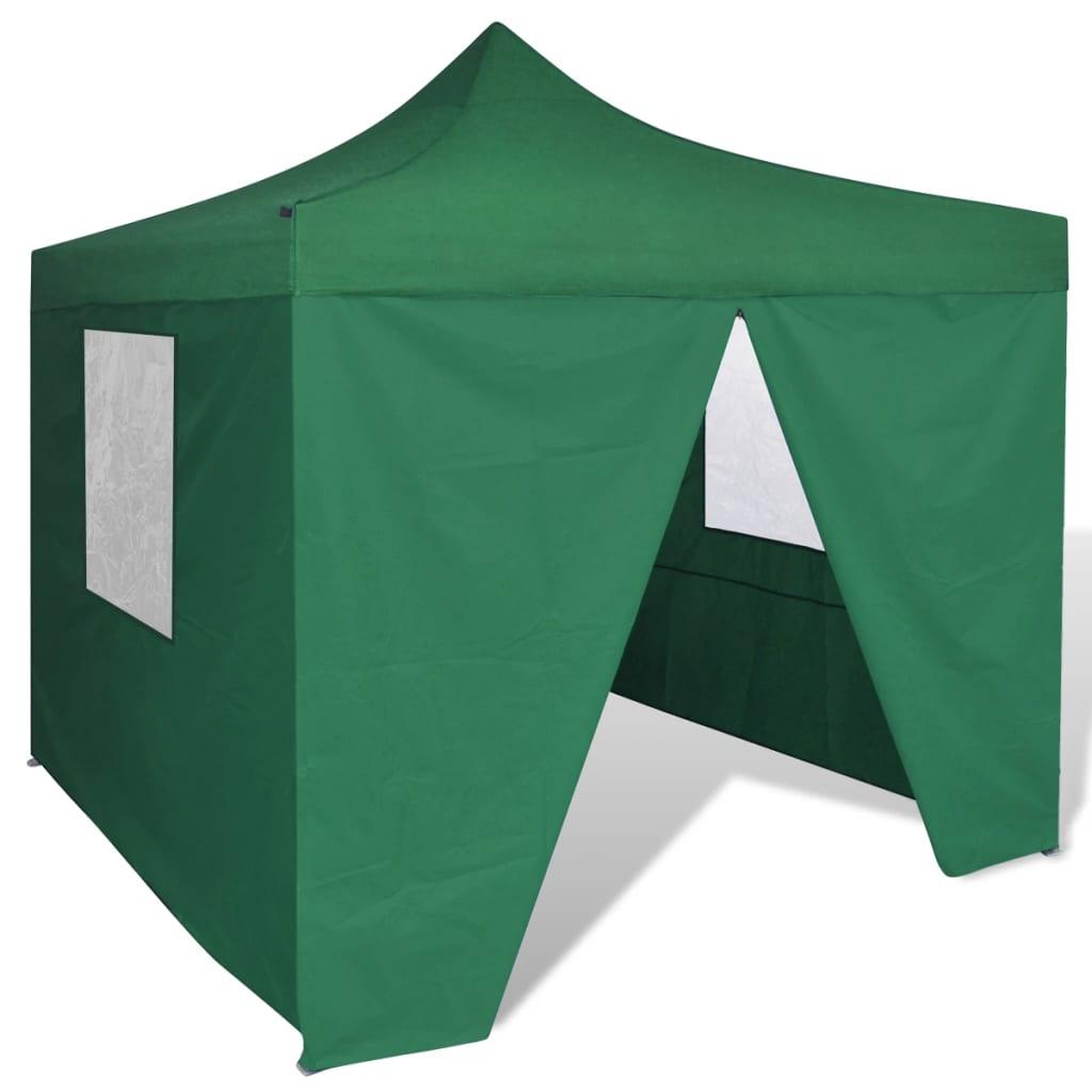 vidaXL Green Foldable Tent 10' x with 4 Walls