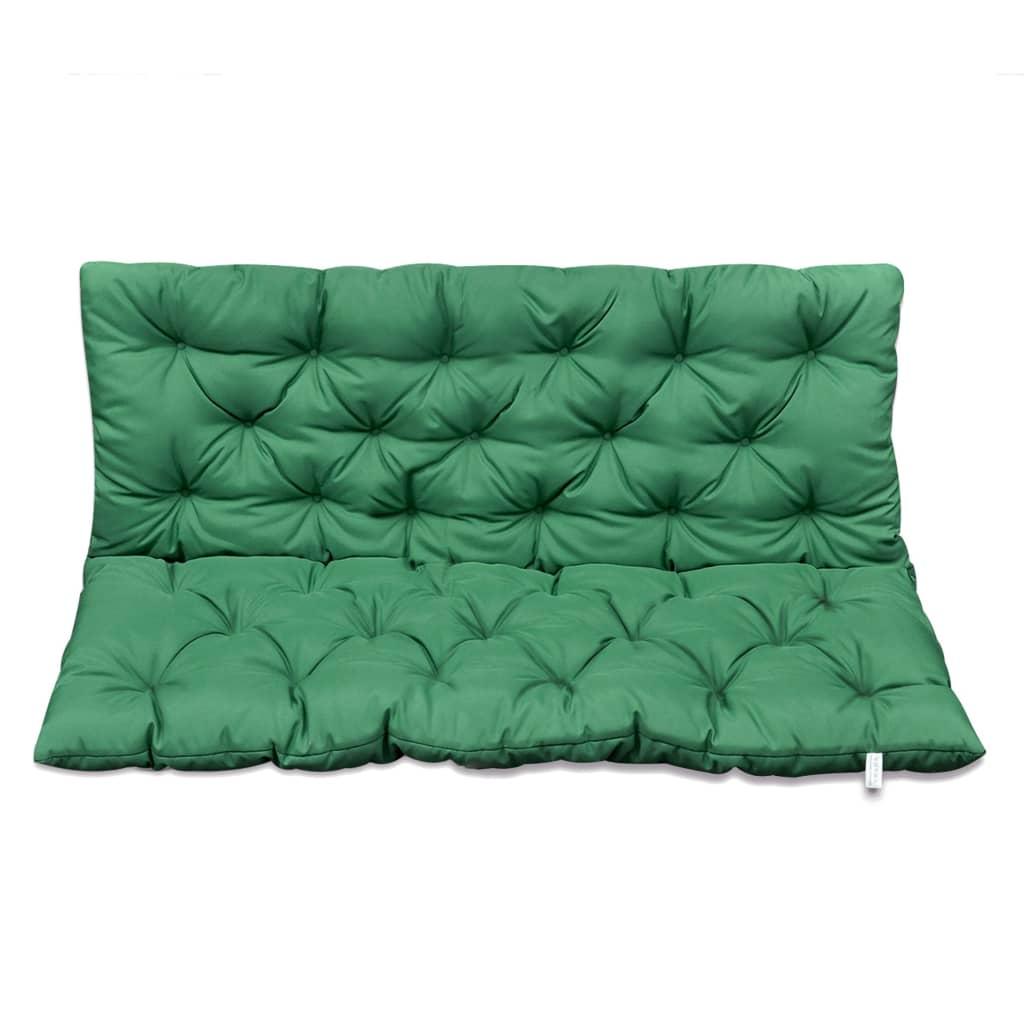 vidaXL Hintaágy párna 120 cm zöld