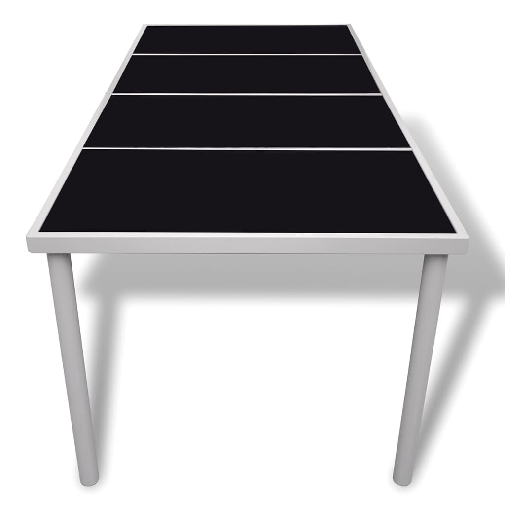 Dining table with glass top 190 x 90 x 74 cm for Table induction 90 cm